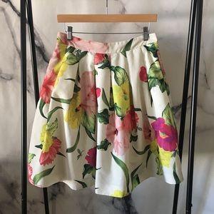 Ted Baker Floral Poofy Full Skirt - Size 3 (US 8)